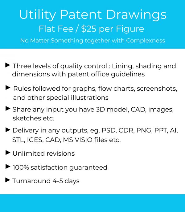 Utility patent drawing services