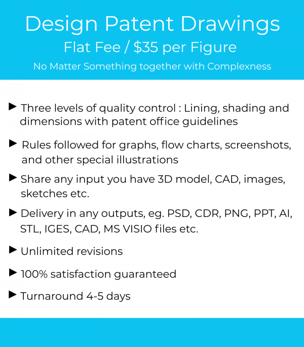 design patent drawing services